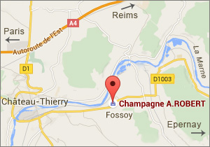 Champagne A. Robert with Google Maps