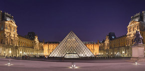 Courtyard of the Louvre Museum and pyramid - Photo Benh Lieu Song
